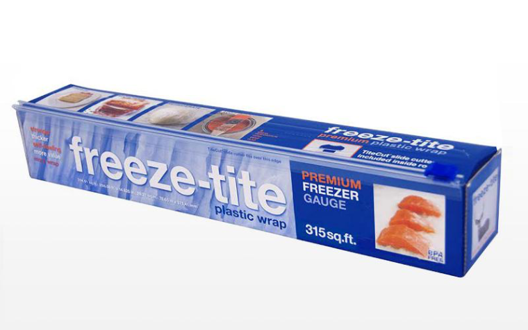 Blue box of Freeze-Tite plastic wrap